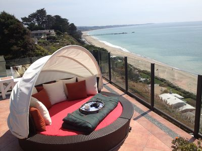Photo for Panoramic Ocean Views From Penthouse Studio Flat Above 100' Cliff!
