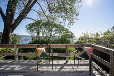 Listen to the waves & soak in the drops of morning sun from the deck