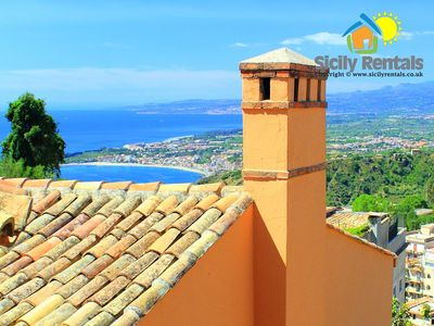 Photo for Luxury villa in Taormina with a breathtaking view on the volcano and the sea