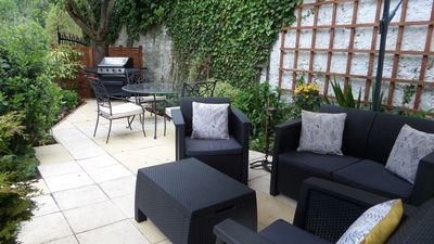 New renovated patio area May 2019 relax with a glass of wine or simply relax.