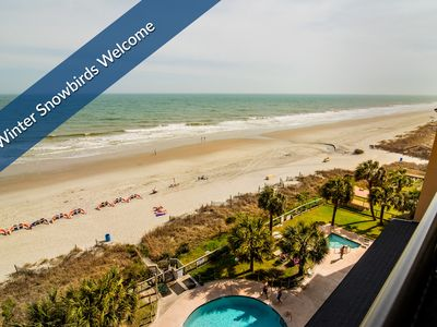 Magnificent Oceanfront Balcony. Indoor Pools. Veterans' Day Special w/ Military ID