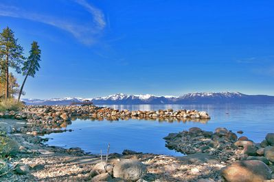 Lake Tahoe ~ with a private beach and kayak are a mere 75 steps from your door.