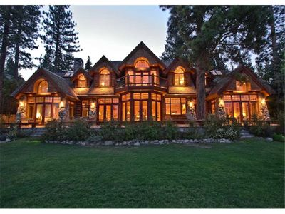 Photo for Greystone - Lakefront:  Incomparable and Luxurious Lodge Style Lake Front Home