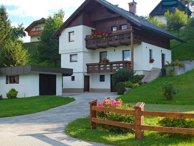 Photo for Apartment with balcony and beautiful view over the Karavanke Alps, near Bled