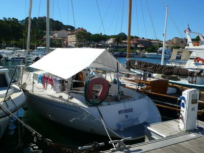 Photo for Renting a sailboat docked in Porquerolles (without possibility for sailing).