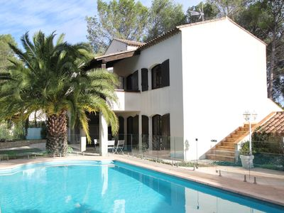 Photo for Villa on 2700m² of pine forest located atop a Mediterranean village