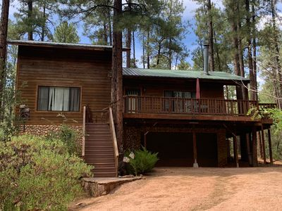 A home, in the Ponderosa Pines