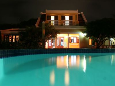 Villa night view from the pool
