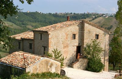 Photo for Organic vineyard/ olive farmhouse with superb 360' views of the Mountains/valley