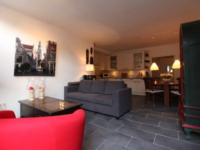 Photo for Lovely Ground Fl. Apartment in Historic Canal House, Jordaan, Center, Amsterdam