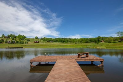 Private Dock Overlooking the Pond