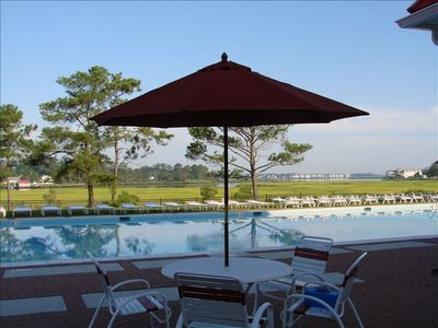 Bayside at Bethany Lakes - Pool overlooking Indian River Bay