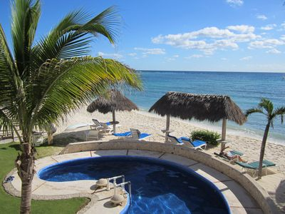Photo for Beachfront, gorgeous Condo in Akumal-Half Moon Bay 2 BR, 2 BA with Pool
