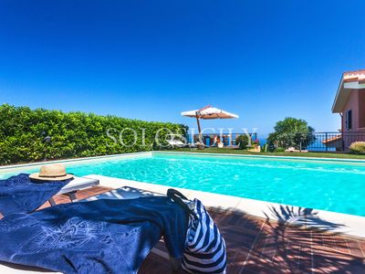 Photo for Comfortable Villa in Sicily with Pool and Sea Views