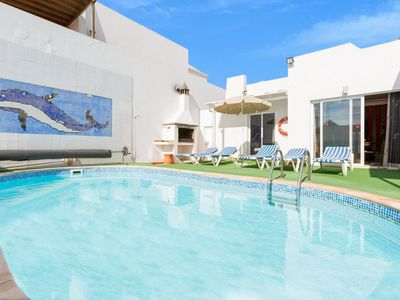 Photo for Villa Reyes: Large Heated Private Pool, Sea Views, A/C, WiFi, Eco-Friendly