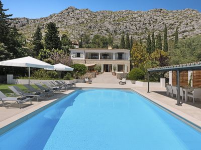 Photo for Luxurious 5 bedroom villa with private swimming pool at the foot of the stunning Serra de Tramuntana