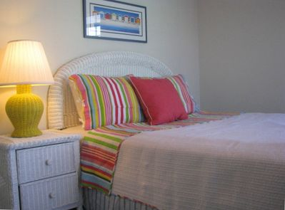 2nd floor queen bedroom...luxurious high thread count bedding included