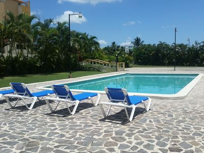 Photo for POOL!  TWO AIR CONDITIONED BEDROOMS, PRIVATE GARDEN, GATED SECURITY, SEMI RESORT