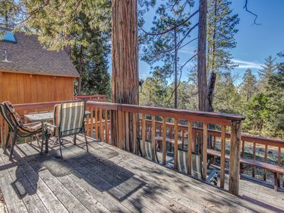 Photo for Cute mountain home with a furnished deck, private grill, and mountain views
