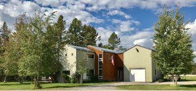 Photo for Contemporary Home on Stillwater River.  Near Whitefish, Kalispell & Glacier Park