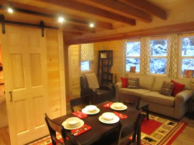 "Photo for ""Tiny Pine Lodge""--Cozy, comfy tiny living!"