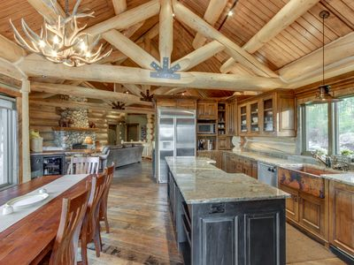 Photo for Luxurious ski lodge features private hot tub - perfect for large groups!