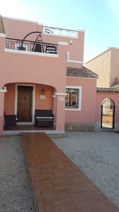 Photo for Holiday villa with shared pool.Front garden, Private rear garden and Golf nearby