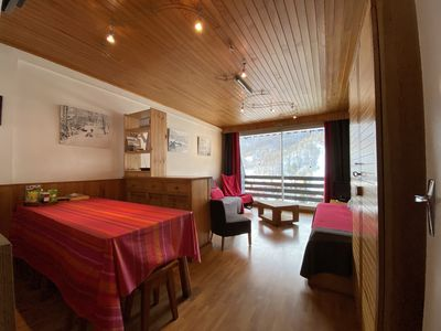 Photo for serre chevalier 1350 south facing apartment 6 people WIFI