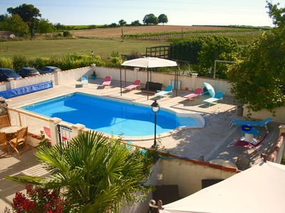 Photo for Kids friendly rental for 12 people in converted farm with enclosed heated pool