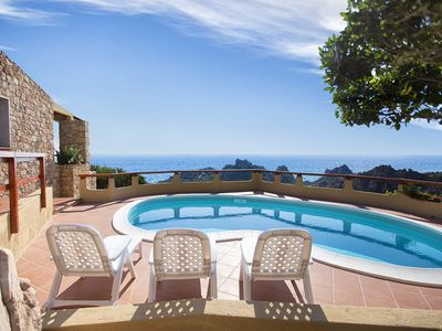 Photo for Costa Paradiso villa with independent swimming pool and wonderful view for 6 people