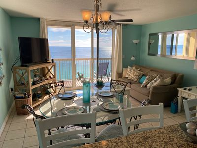 Beautiful view of Gulf from Kitchen,  Living room and Balcony.