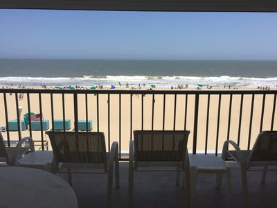 Photo for HUGE BALCONY FOR OCEAN AND SUNRISE WATCHING. FUN FOR PEOPLE WATCHING TOO!!!!