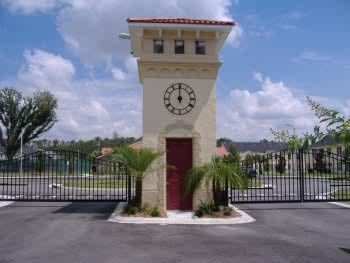 Secure gated clock tower entrance
