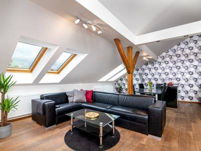 Photo for Pristine penthouse in the heart of Prague w/ loft & spacious layout!