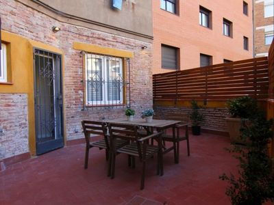 Photo for Sagrera Quiet 1-1 apartment in La Sagrera with WiFi, air conditioning, private terrace & lift.