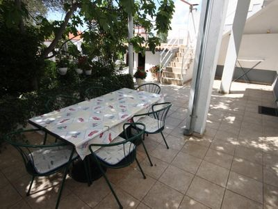 Photo for Two bedroom apartment with terrace Biograd na Moru, Biograd (A-858-a)
