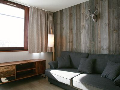 Photo for Studio in Tignes with south-facing balcony, ski-in / ski-out