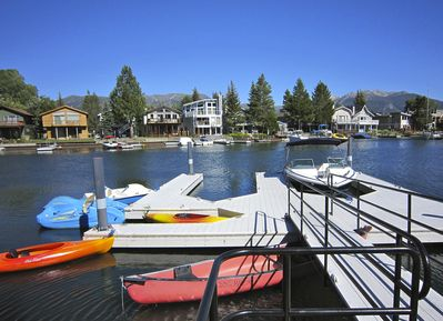 Large double dock & lots of watercraft for rent