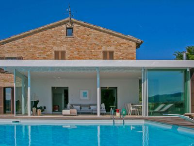 Photo for VILLA DIAMANTE - Luxury private Villa with panoramic pool, bright veranda, wi-fi