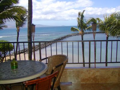 Private Oceanfront Lanai Overlooks Beach & Harbor!