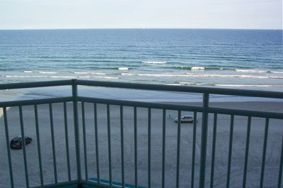 Beautiful oceanfront and pool views from balcony in living and master bedrooms