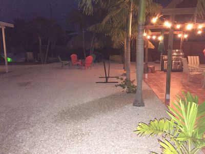 Unwind in the relaxing and peaceful outdoor area by the canal or under the tiki