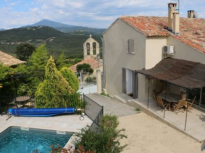 Photo for Independent house 150m², swimming-pool at the foot of Mt Ventoux