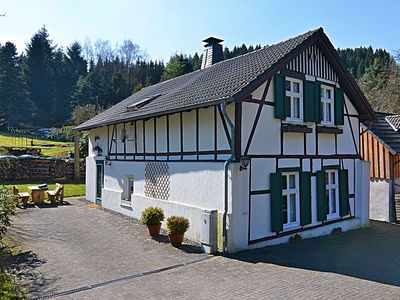 Photo for Gorgeous timbered farmhouse in the Sauerland with garden, fireplace and bar