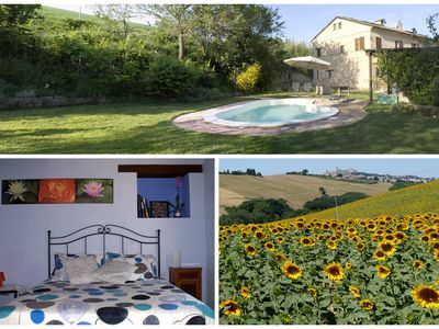 Photo for Farmhouse with swimming pool in the area to visit