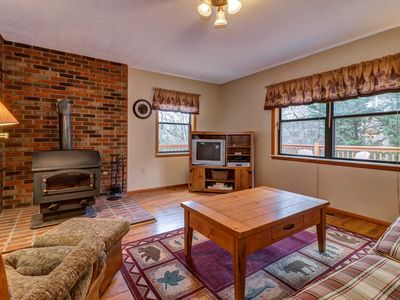 Photo for NEW LISTING! Secluded mountain cabin w/ fireplace & a spacious, furnished deck