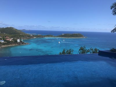 infinity edge pool (15x30ft) with a view and 2 decks (15x15 and 15x30ft)