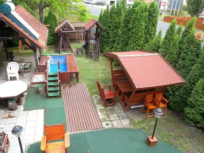 Photo for Holiday house with pool, children's swing and slide