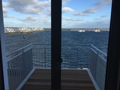 Photo for 2-Zi-PENTHOUSE apartment with panoramic views of the harbor, Schlei and the Baltic Sea