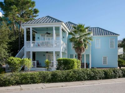Photo for 2-Story Home Water Views | Outdoor pool, Tennis, BBQ, Wifi | Free golf, dolphin cruise, fishing, OWA